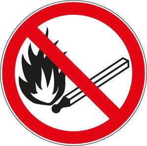 panneaux signalisation santé sécurité travail flammes nues interdites
