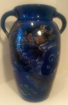 013 Baron of Barnstaple - vase decorated with stylised fish