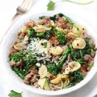 Rao's Pasta with Sausage and Broccoli Rabe