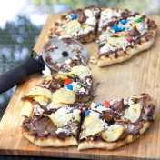 Grilled Chocolate Pizza - fun to make and eat!
