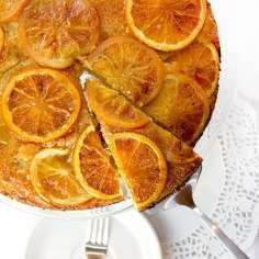 Best Mother's Day Brunch Recipes: Orange Vanilla Upside Down Cake - Panning The Globe