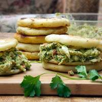 Reina Pepiada: Venezuelan Arepas with Chicken and Avocado