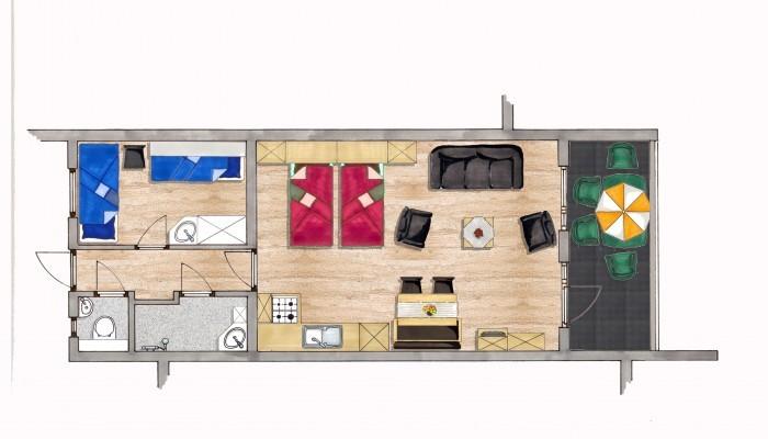 Appartement met 1 slaapkamer (type 1) - paNOORama Noorbeek