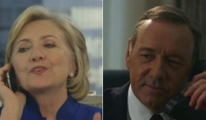 Hillary Clinton and Frank Underwood