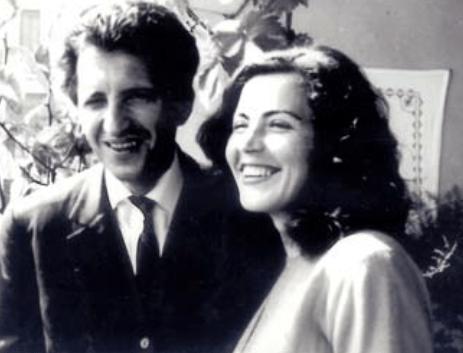 Sadije dhe Dritëro Agolli në ditën e dasmës