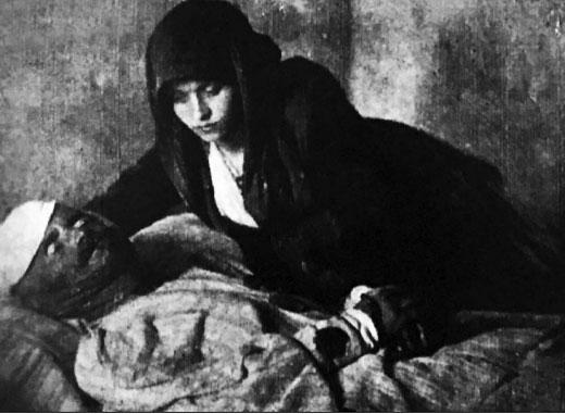 """Fotografia e realizuar nga Kolë Maca, """"Gjon Pali dhe e bija"""", 1913"""