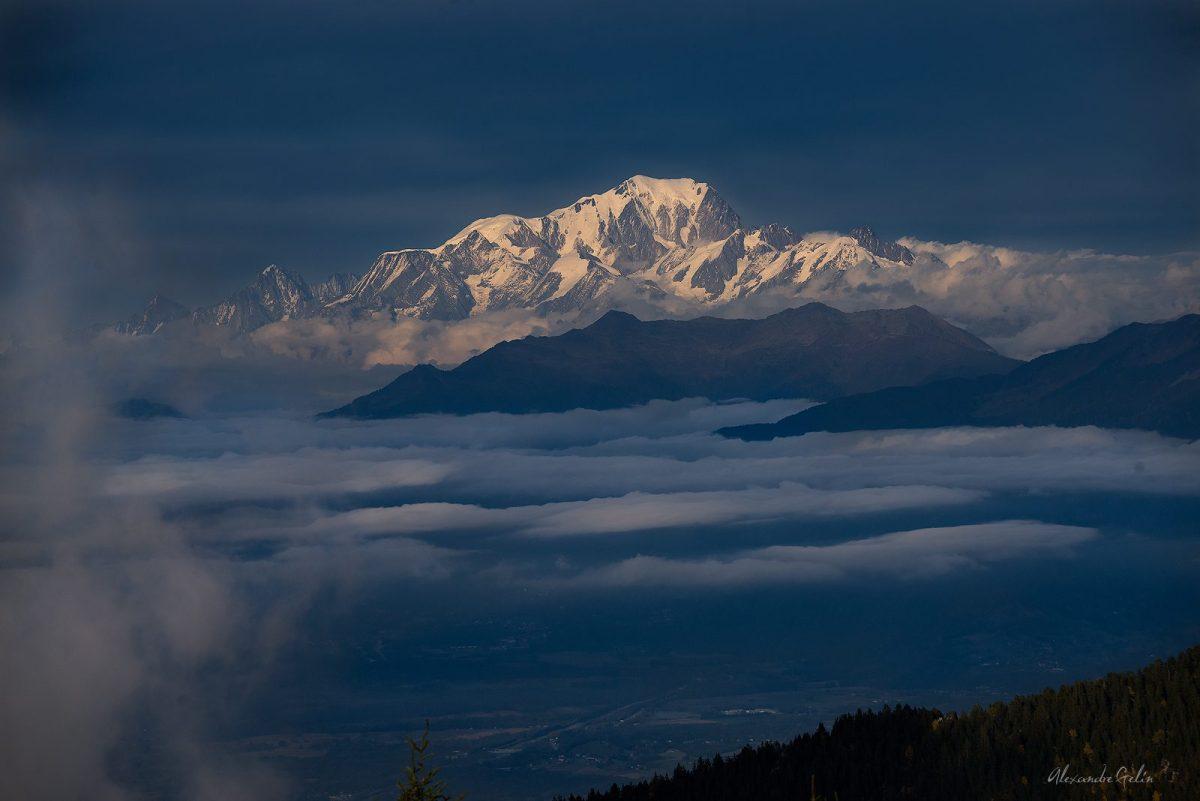 Le Mont Blanc depuis le Pinet