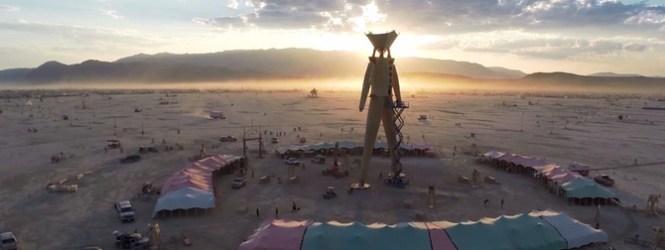 Vuelve al Burning Man con este tour de altura desde un drone