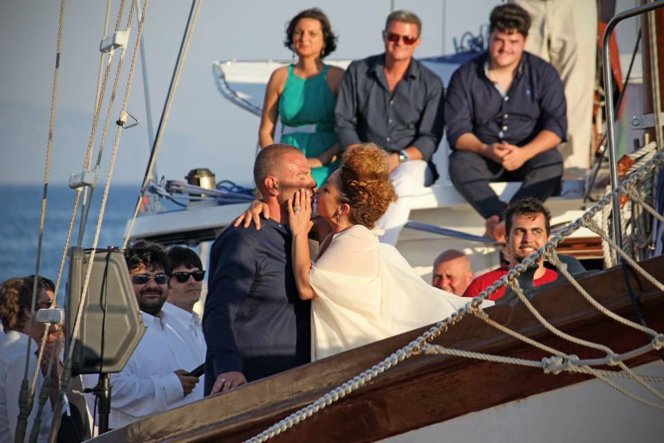 Iene, matrimonio in barca per Giulio Golia