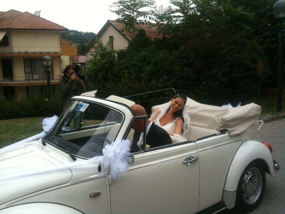 elisa triani matrimonio maggiolino cabrio bianco