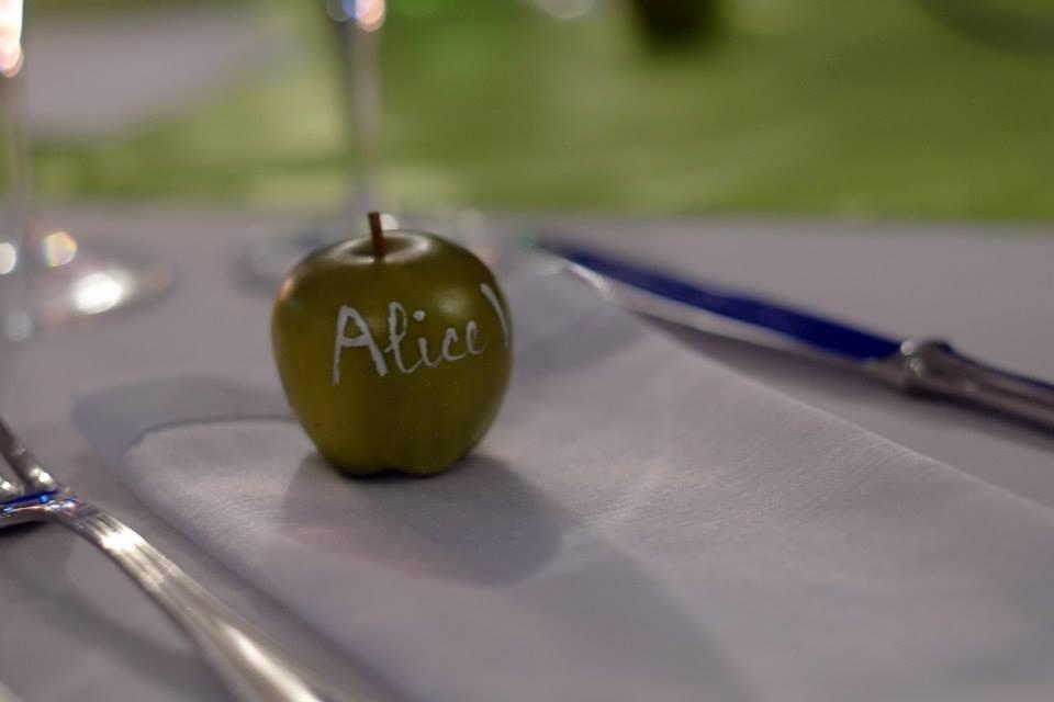 Segnaposto verde mela