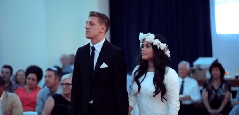 Haka al matrimonio sposi del Tonga