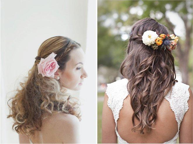 Trecce e fiori per una sposa boho