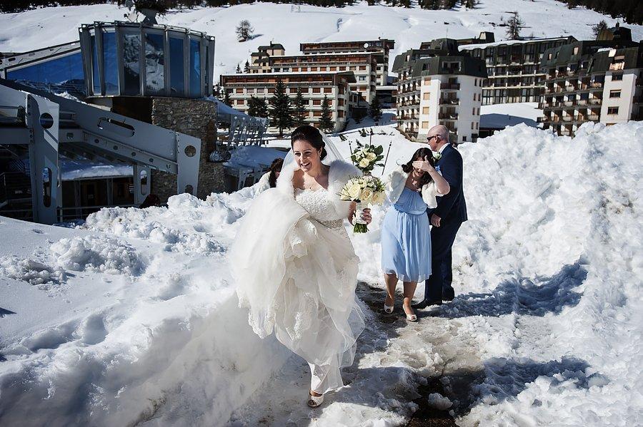 matrimonio sulla neve al Sestriere