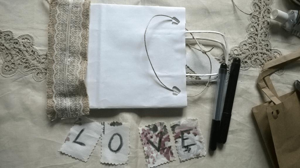 Wedding bag tutorial decorazione