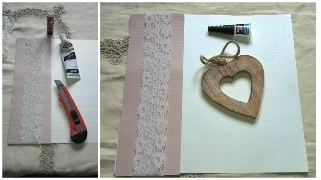 Decorazione shabby guest book