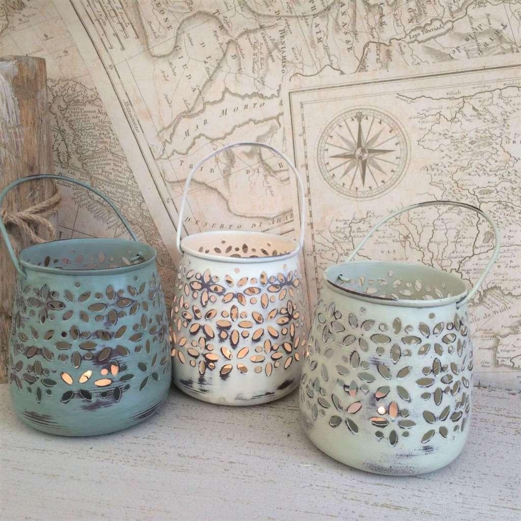 Lanterne shabby per tea light