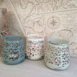 Lanterne shabby per tea light