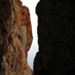 Quinto largo, dentro de la chimenea, el Mediterráneo al fondo