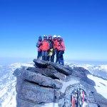 Manu, Santi, yo, Poli y Sento en la cumbre del Mulhacen
