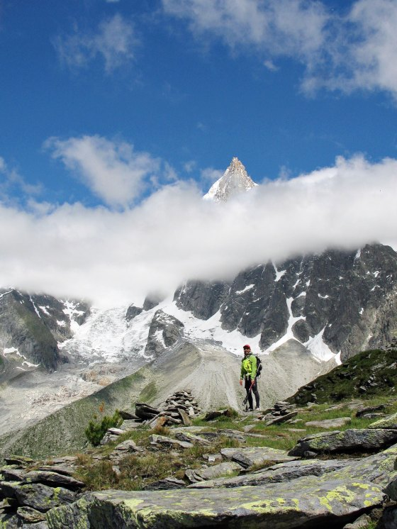 Pilar Bonatti en los Alpes