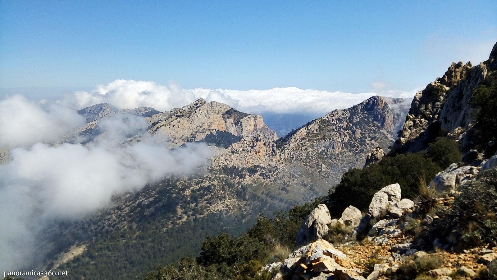 Monte Cabal visto desde el Puig Campana