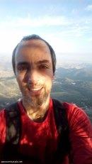 Autofoto en la cresta del Maigmó o cresta del Cantal del Pixador