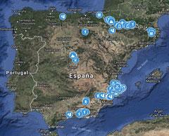 Mapa con todas las actividades del blog geolocalizadas
