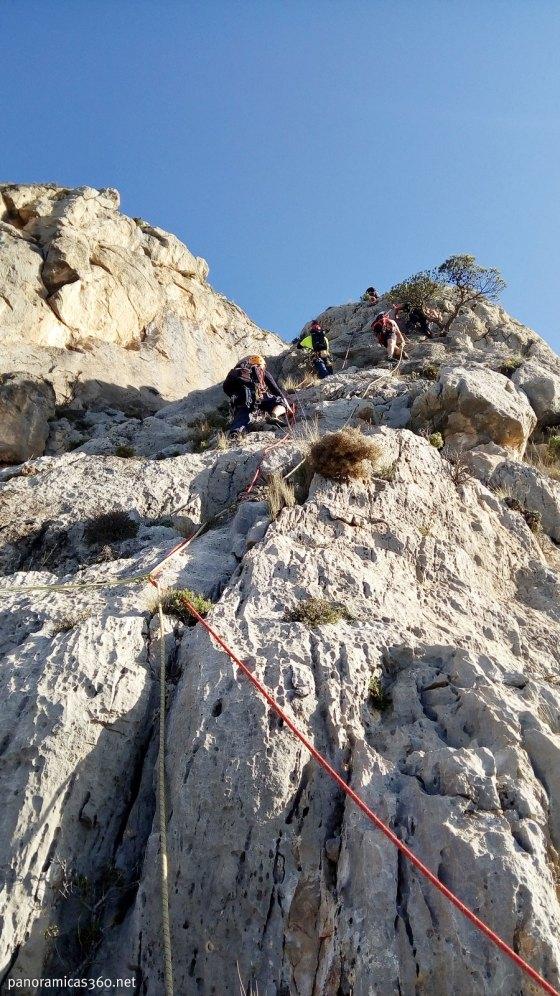 Escalada en el Puig Campana. Vía Ángel Cerrillo