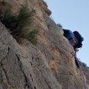 Escalada en La Aparecida (Orihuela). Vía El Pregonero