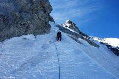 Pala de hielo de 25 metros y 50º