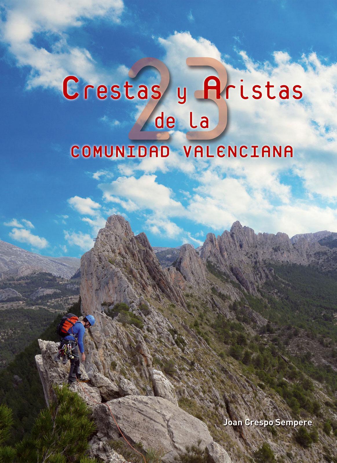 Portada del libro 23 crestas y aristas de la Comunidad Valenciana