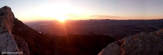 Puesta de sol desde el Cabeçó d´Or