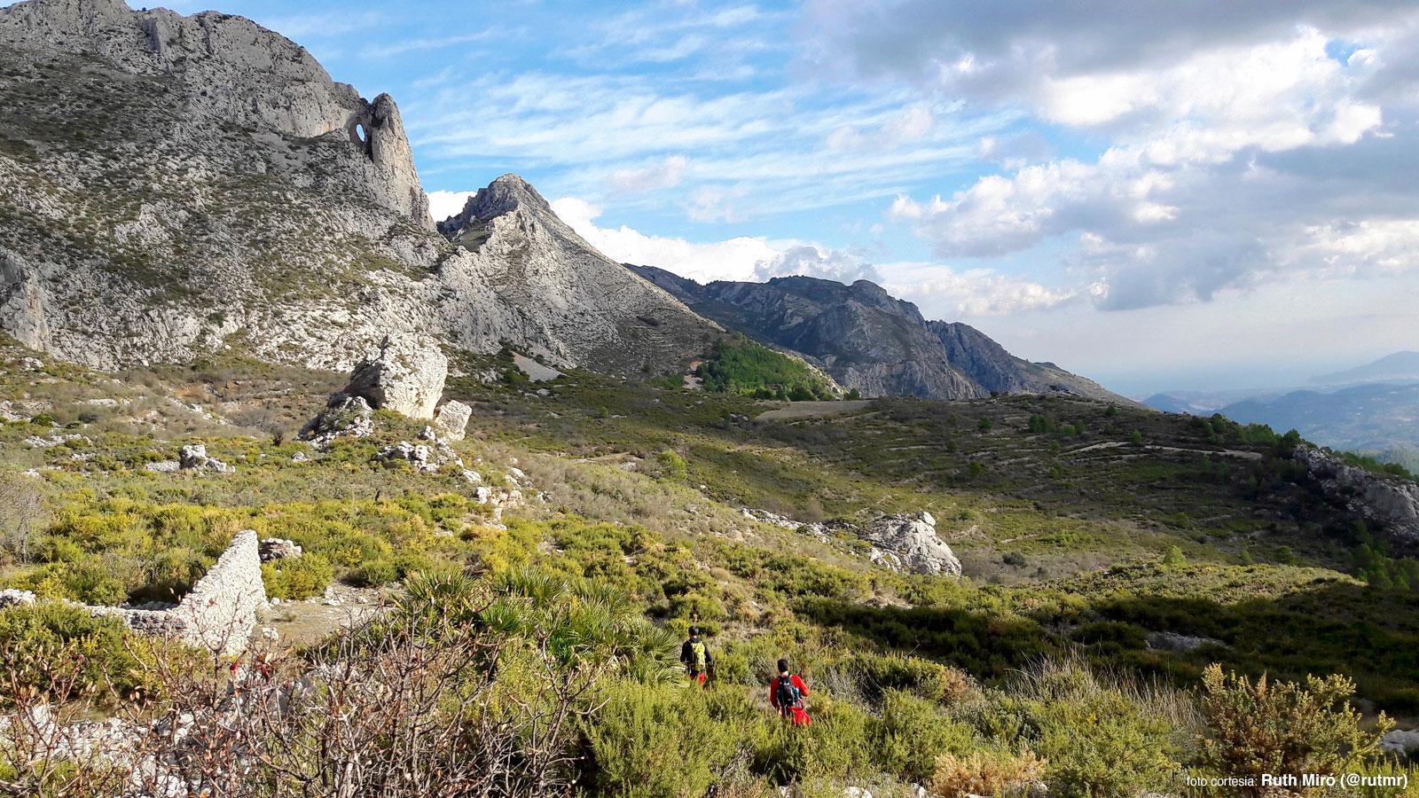 Parte baja del barranco de la Canal en la sierra Serrella