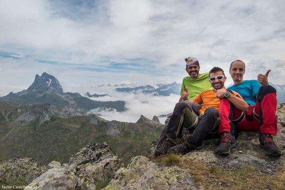 Óscar, Javi y yo en el Pico de Anayet