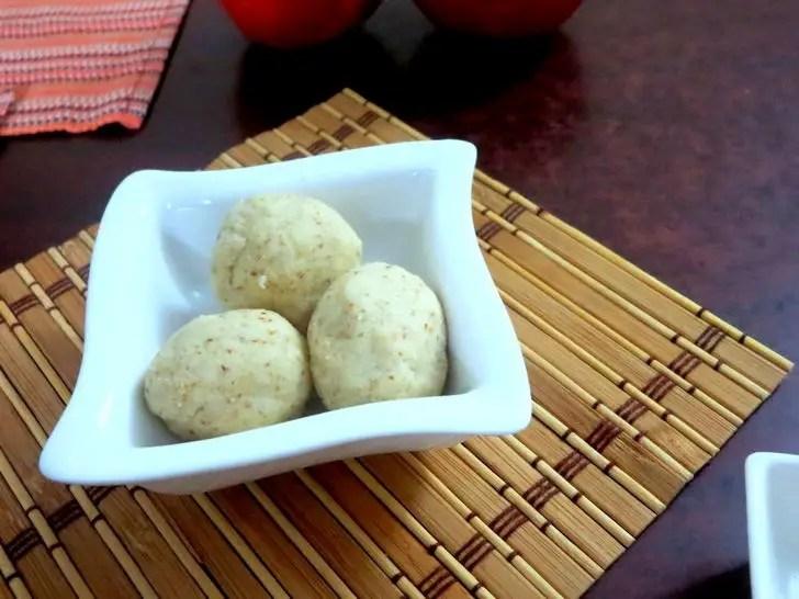 No Cook Cashew Almond Laddoo Recipe.