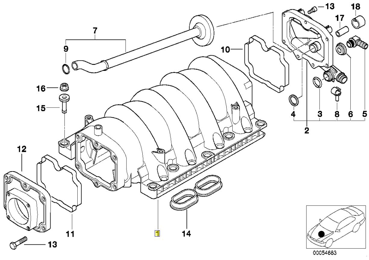 Bmw M62 V8 Engine Intake Manifold Lpg Converted
