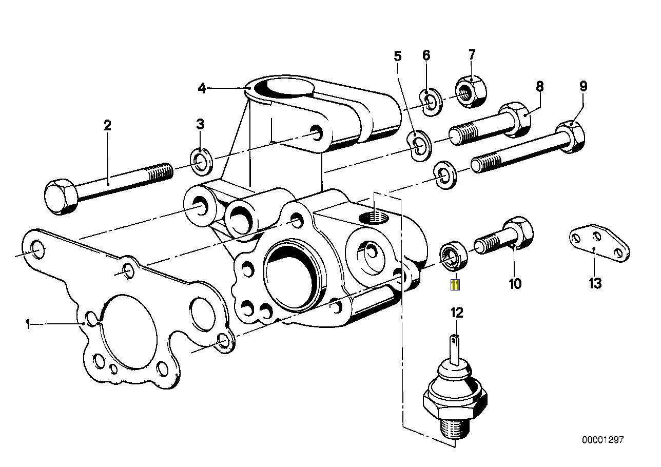 Bmw M10 M30 Engine Distributor Bolt Seal Ring