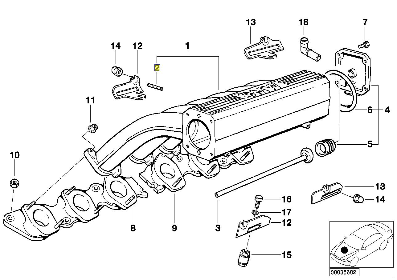 Bmw Gewinde Schraube Stiftschraube M6 X 1 00 X 40 Mm