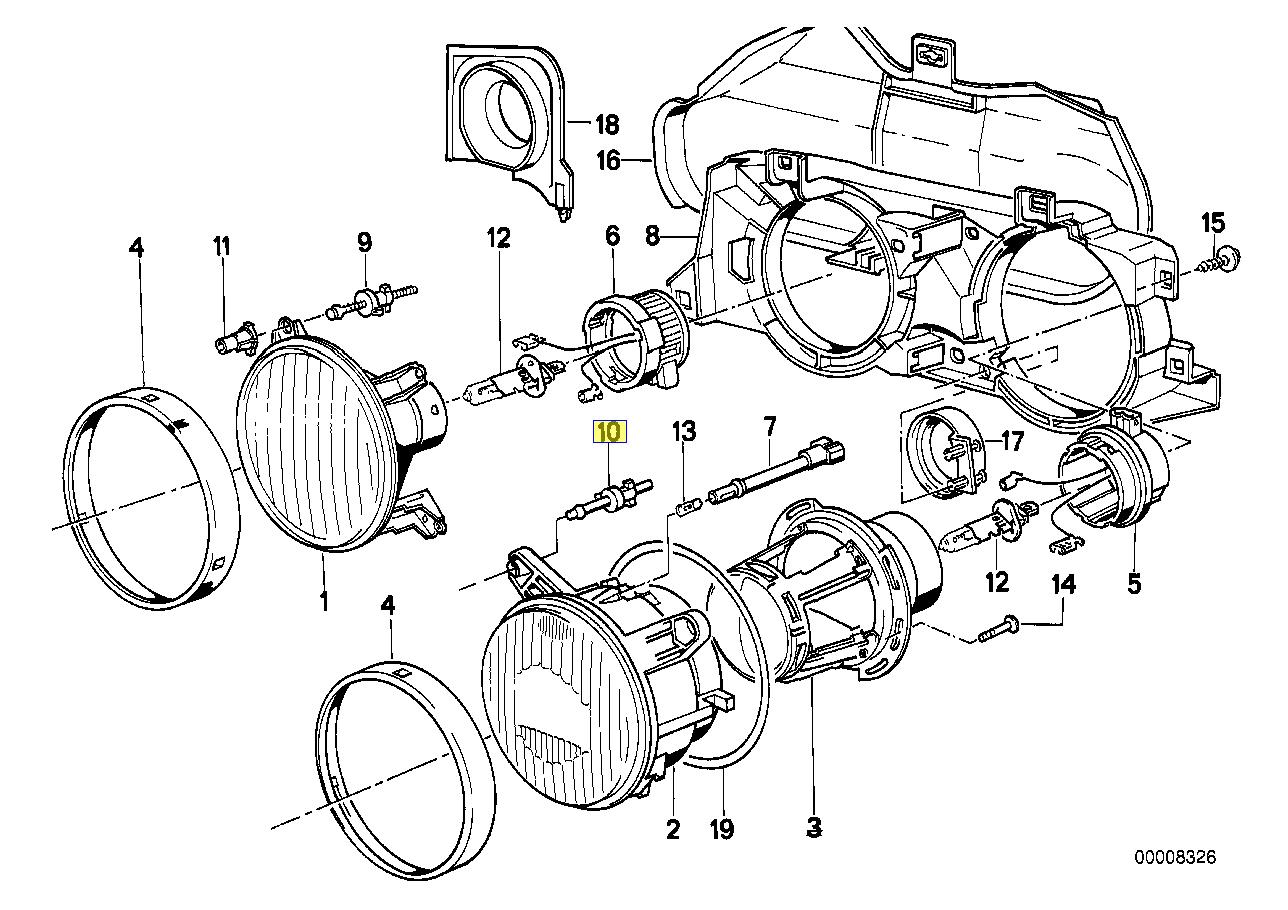 Bmw E24 E30 Head Light Aim Adjuster Screw Knob
