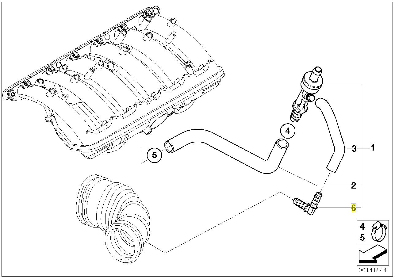 Bmw E46 E39 M54 Engine Vacuum Hose Pipe Adapter
