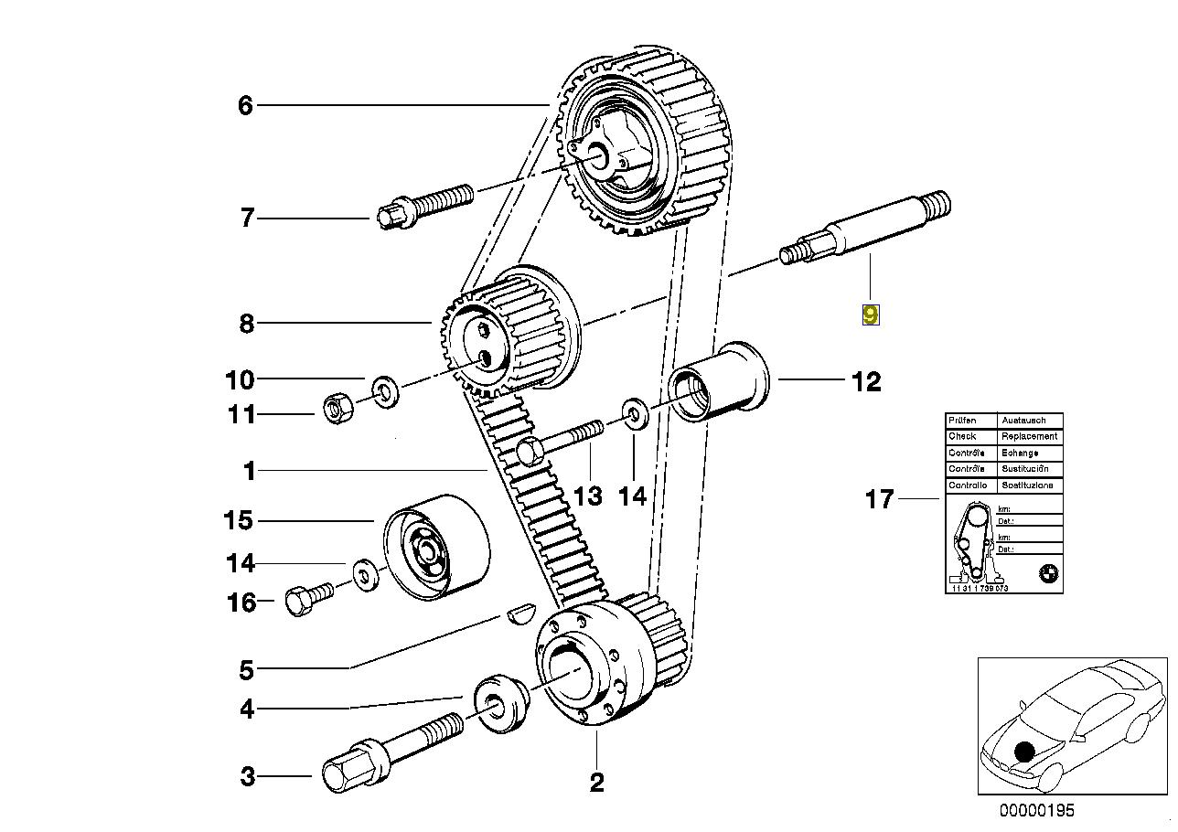 Bmw M40 Engine Timing Belt Tensioner Bolt Stud
