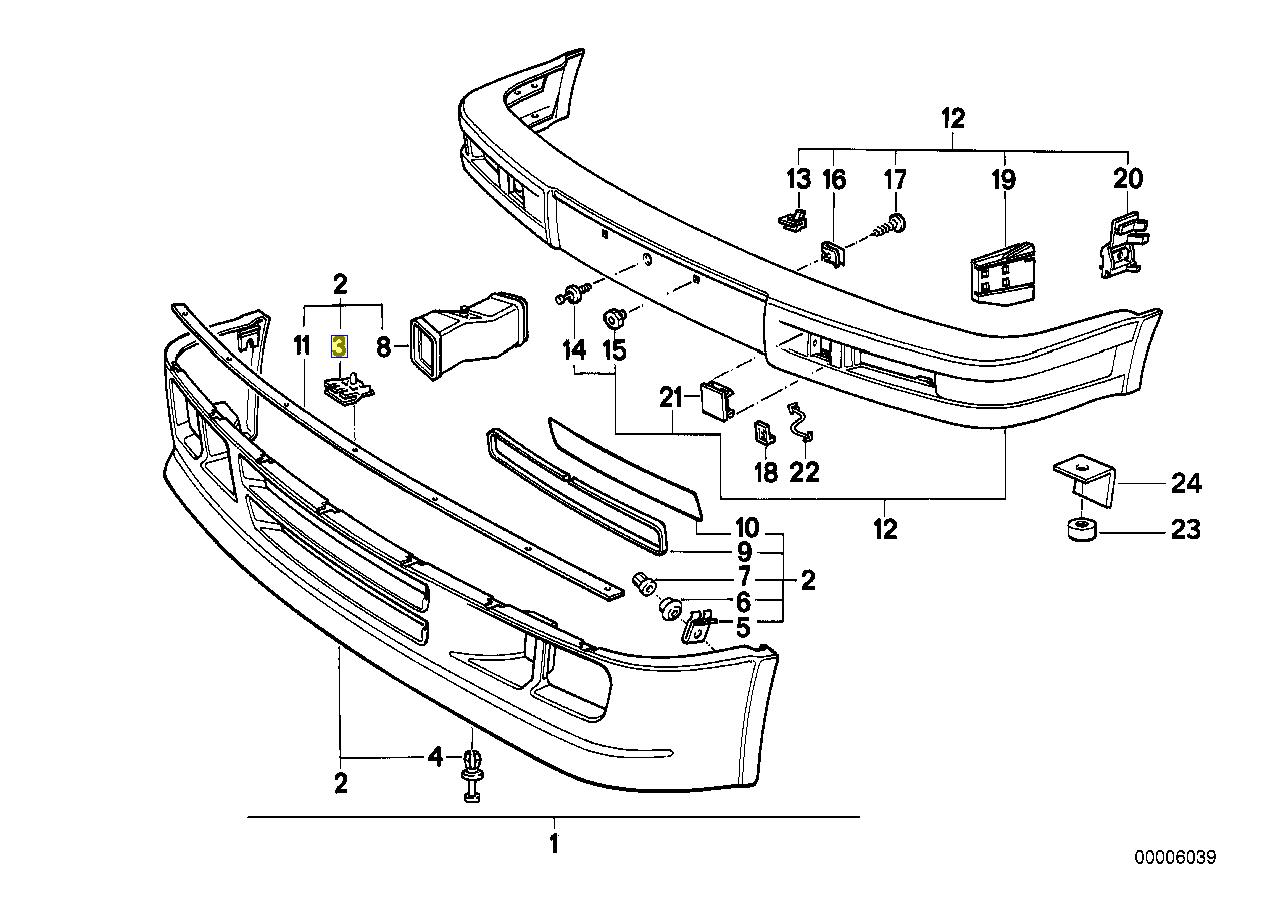 Bmw E30 M Tech Front Bumper Splitter Clip Clamp