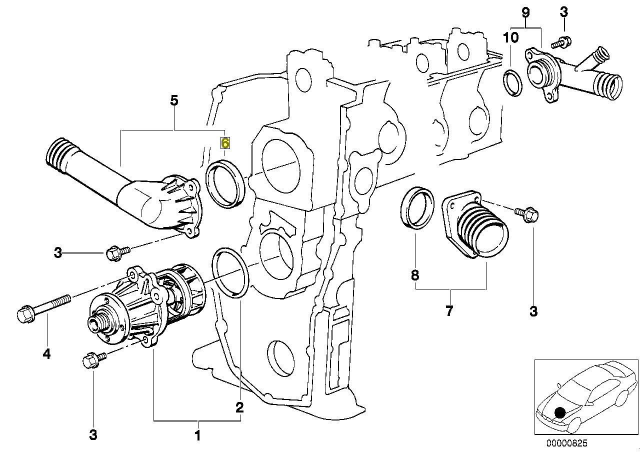 Bmw M43 Engine Thermostat Housing Seal Gasket