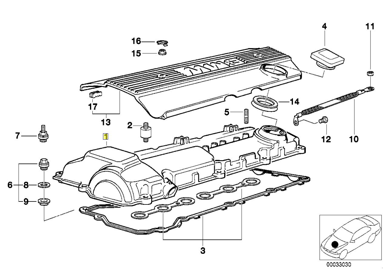 Bmw M50 Motor Zylinderkopf Abdeckplatte Schutzschild