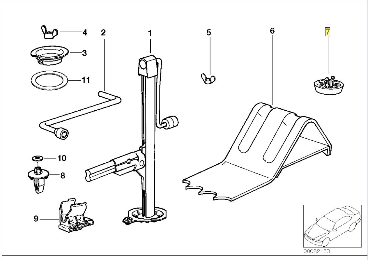Bmw E36 Gabelstapler Wagenheberaufnahme Halter Block