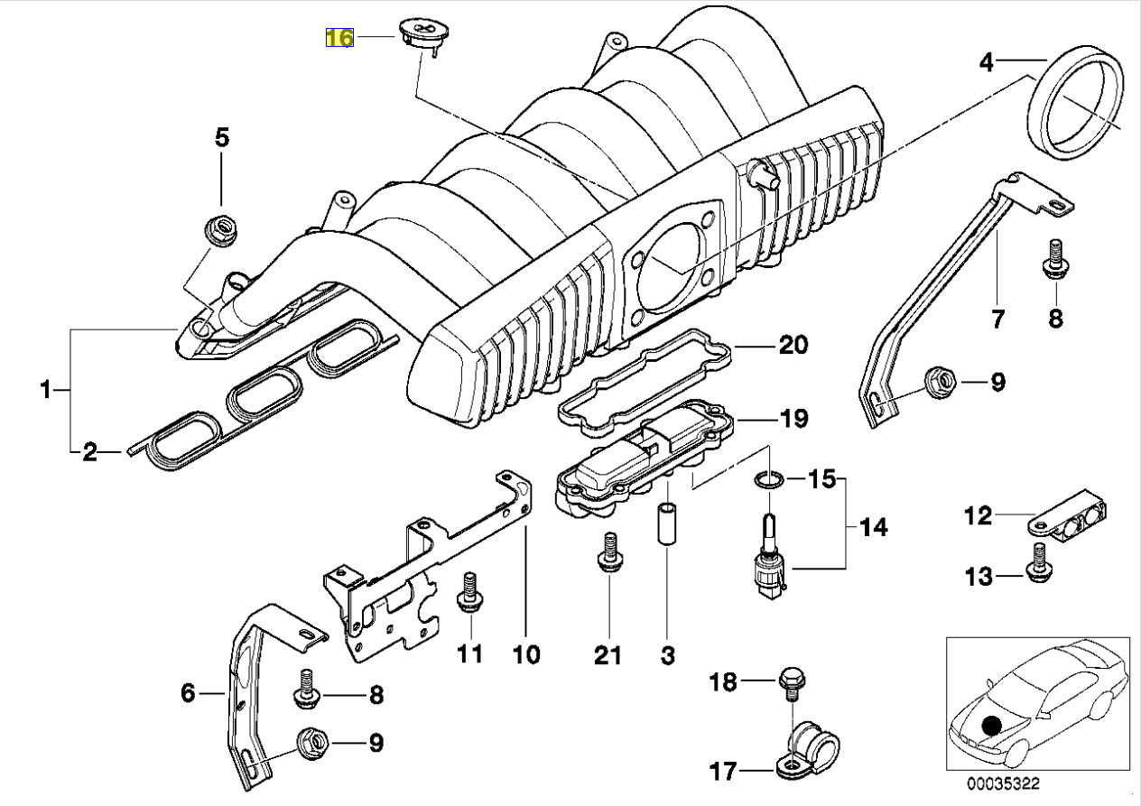 Bmw E39 E38 M52 Starthilfe Ve Spitze Abdeckung Kappe