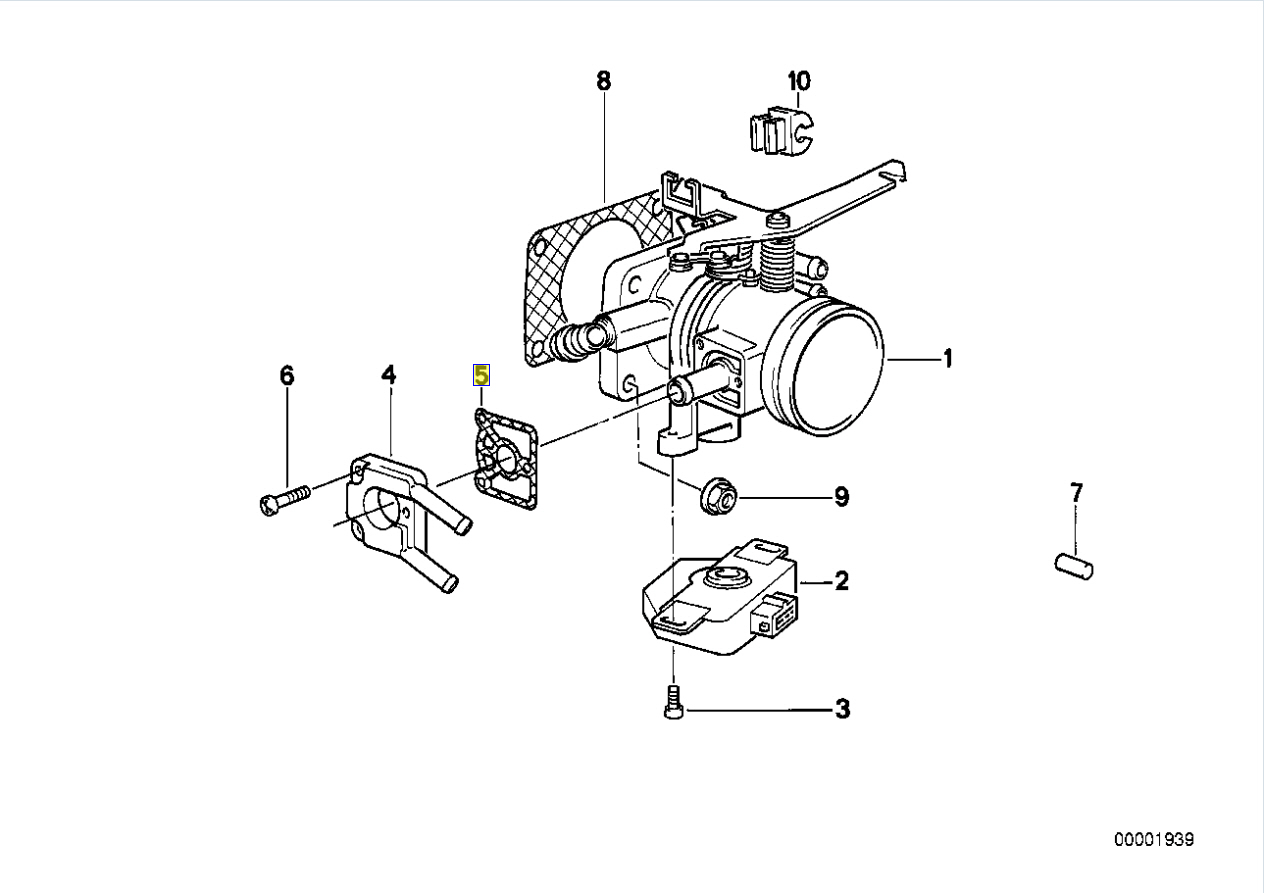 Bmw M10 M20 Engine Throttle Body Heater Gasket