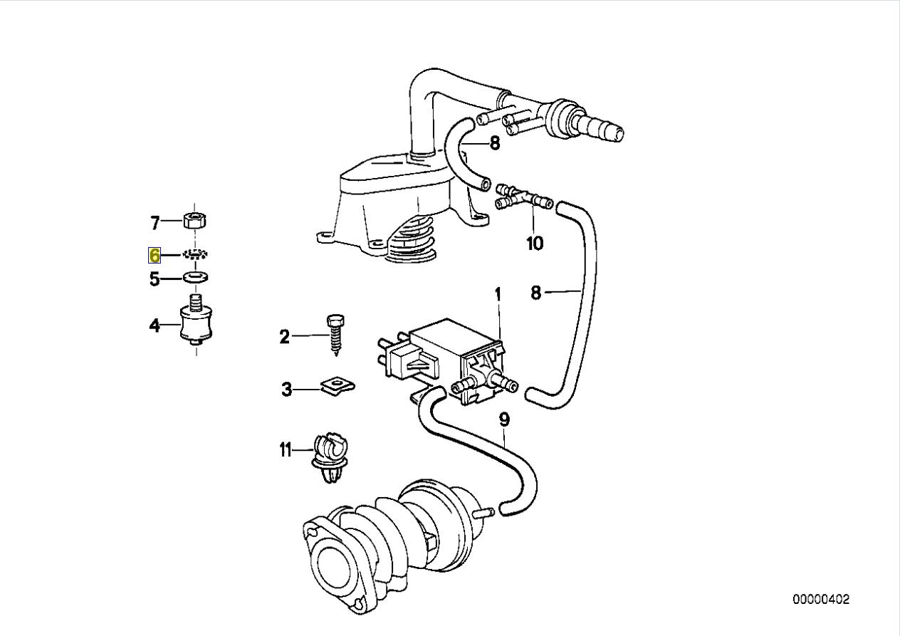 Bmw M21 Engine Tooth Lock Star Washer M4 4 3 Mm