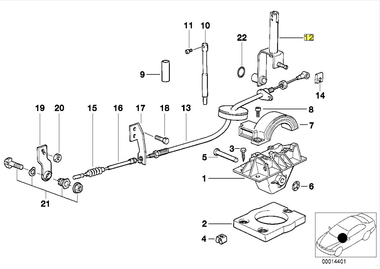 Bmw E30 E34 E32 Auto Gear Selector Lever Stick